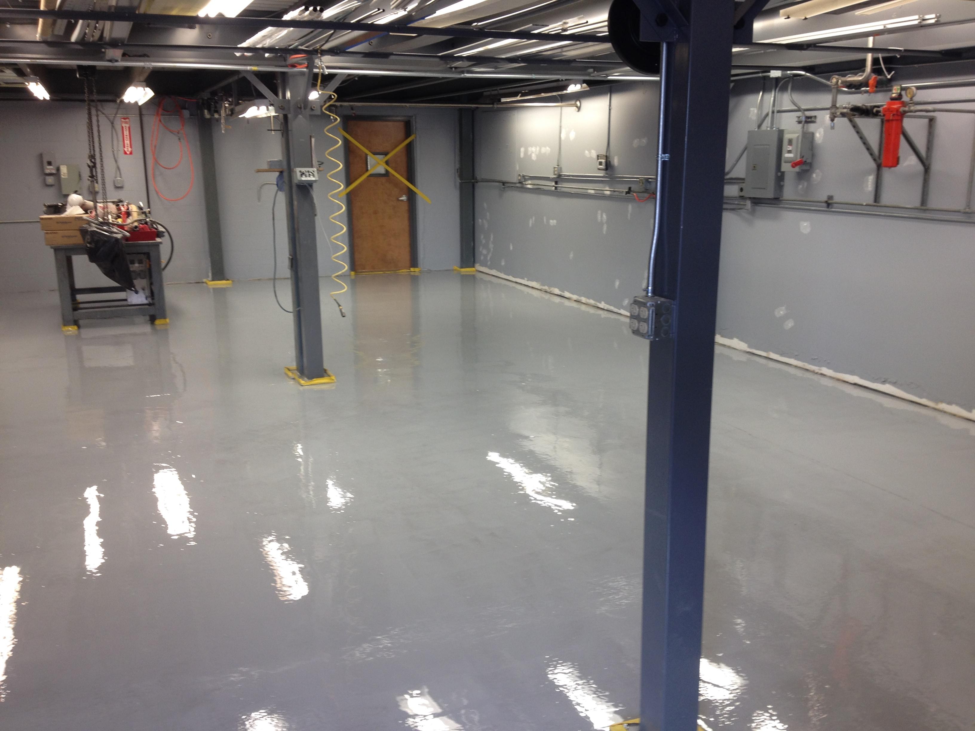 Floor Coatings - Mechanical Room Floor
